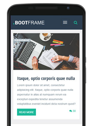 BootFrame on mobile devices